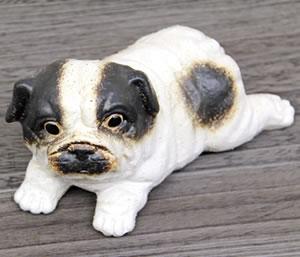 ブルドッグおきもの 陶器イヌ インテリア犬 信楽焼