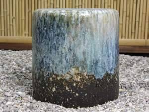 陶器のガーデンテーブル 信楽焼テーブルセット しがらき庭園セット