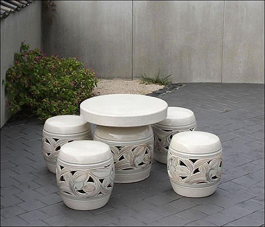 20号唐草色テーブルセット