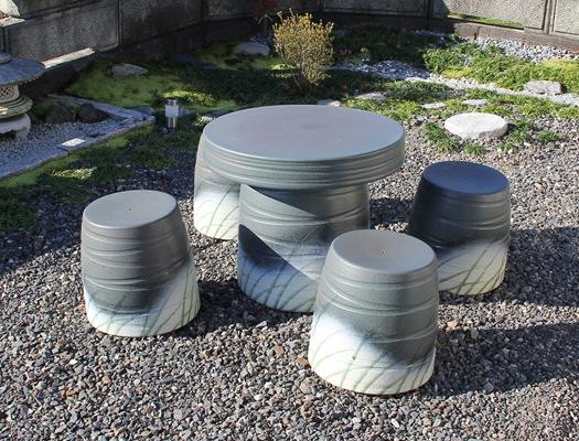 20号青銅なびき草テーブルセット