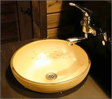 手洗い鉢設置例