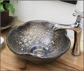 茶窯変花型