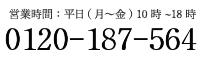 受付時間:平日(月〜金) 10時~17時