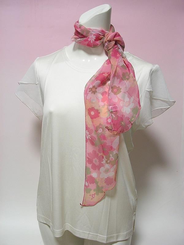 シルクシフォンロングスカーフ