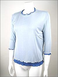 シルクメッシュ7分袖シャツ