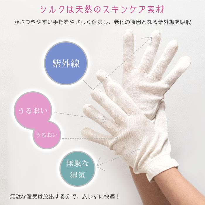 シルクスキンケア手袋