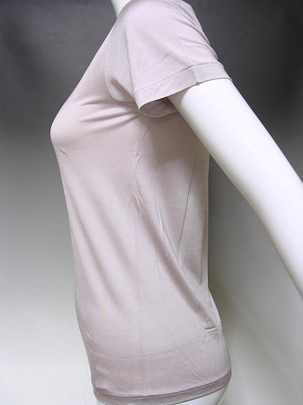 シルクニット半袖丸編み