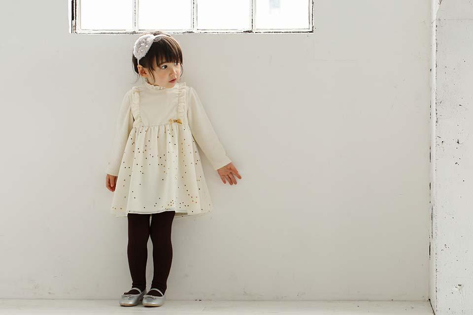 10mois(ディモワ) フリル衿ロングTシャツ イメージ
