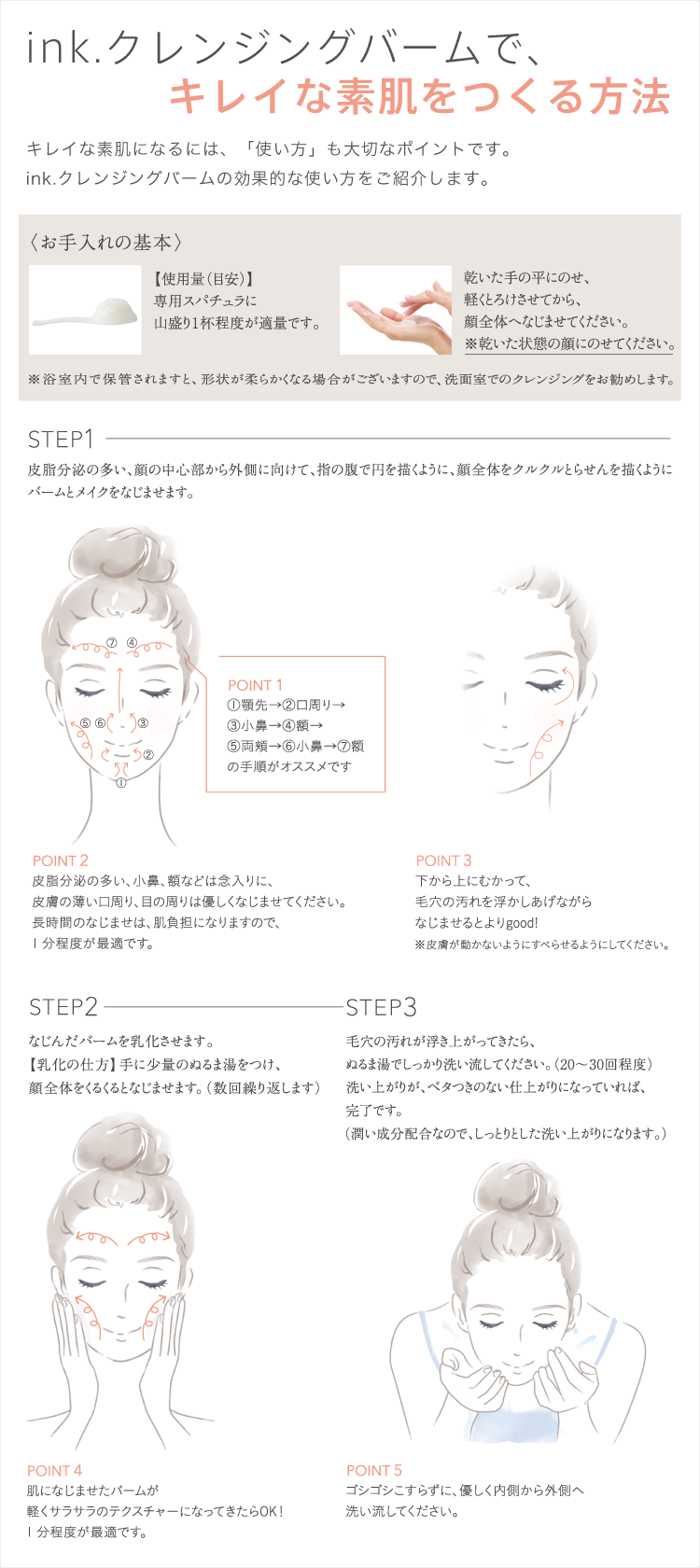 キレイな素肌をつくる方法