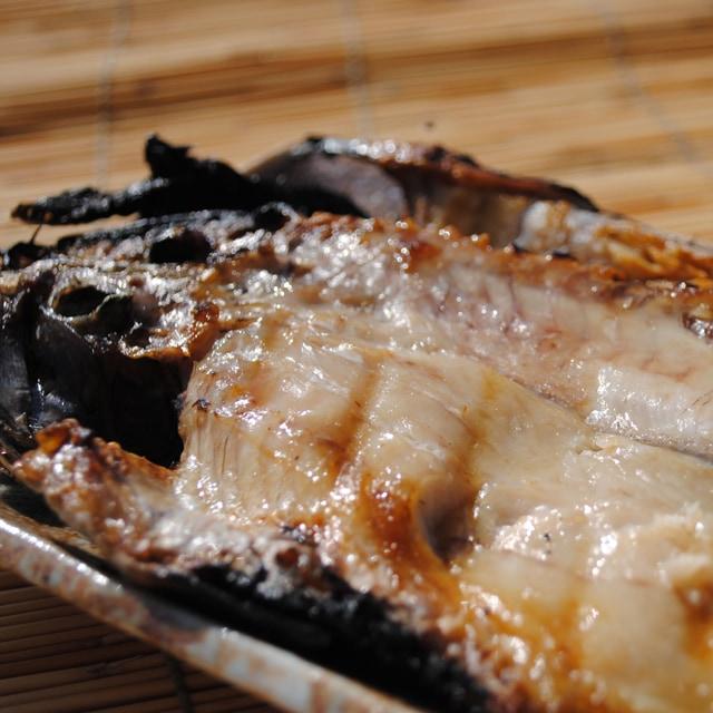 クロムツ干物を焼いた写真