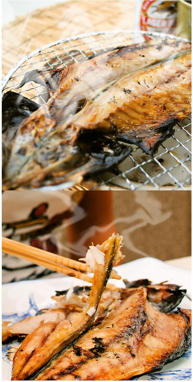 松輪サバ干物を焼いた写真