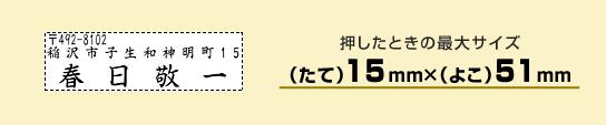 住所印1551号【個人用】サンプル