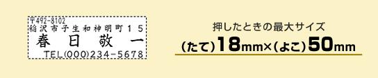 住所印1850号【個人用】(たて18mm×よこ50mm)