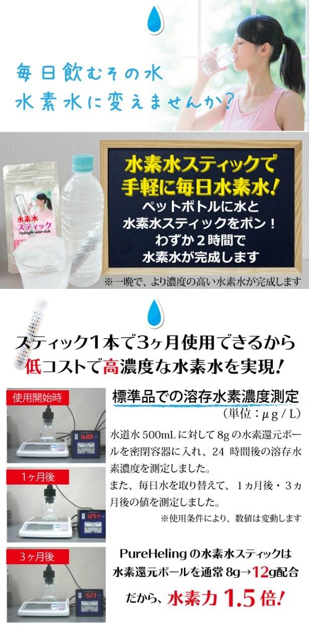 水素水スティック[スパークビューティー]の特徴1