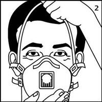 N100防毒マスクの装着手順