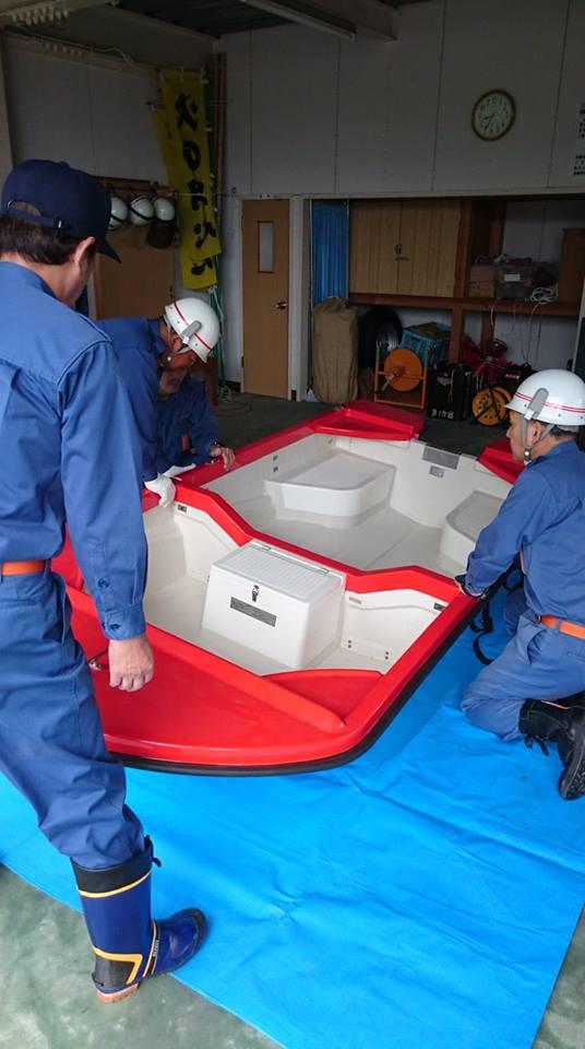 水害対策用、避難用ボート