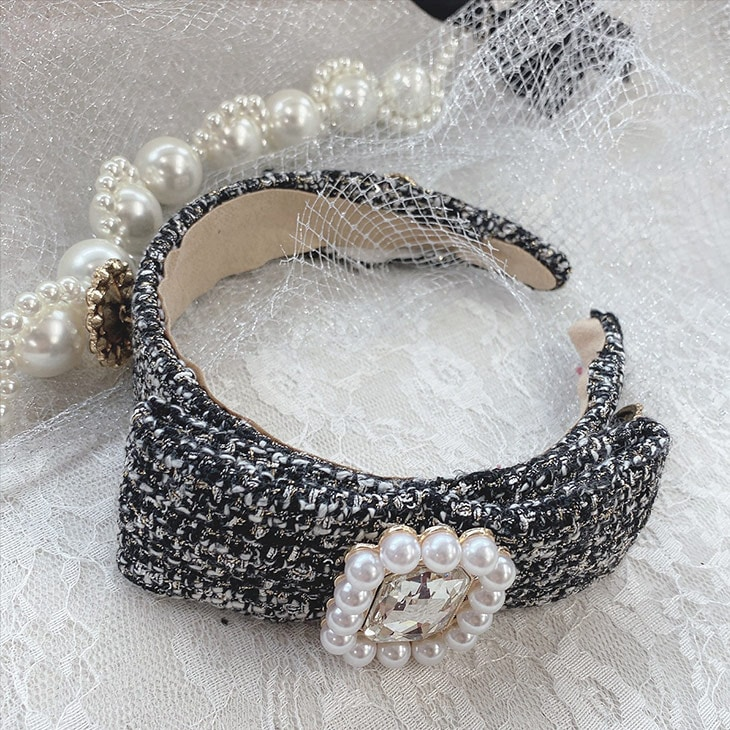 SX elegant tweed カチューシャ