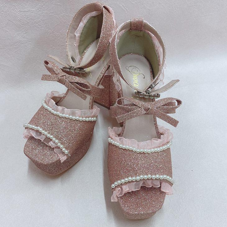 PG frill ribbon sandal