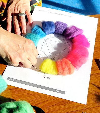 染色羊毛サンプル帳作りクラスA