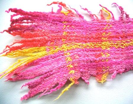 ウール糸の染色 & 糸フェルト 2日間