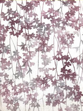 草木染型染しだれ桜