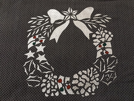 型染めで冬を彩る「クリスマス」