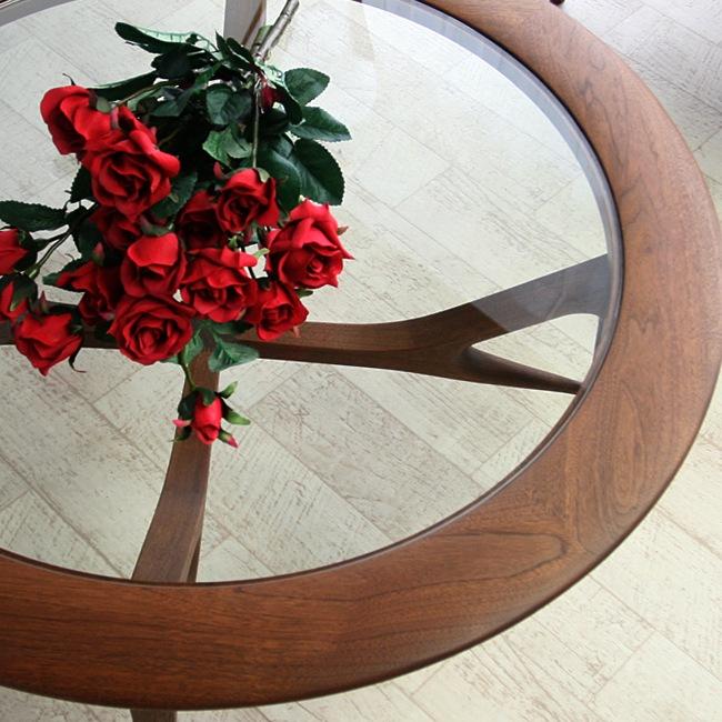 クレール リビングガラステーブル