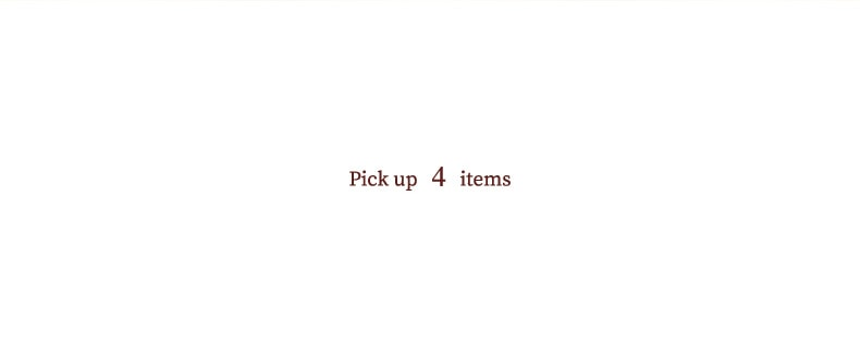 Pick up 4items