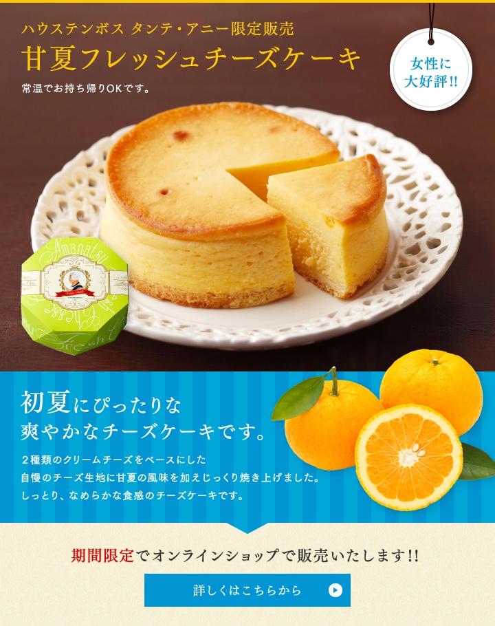 甘夏のフレッシュチーズケーキ