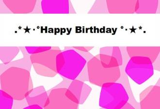 [写真]Happy Birthday