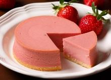 [写真]ストロベリーフレッシュチーズケーキ