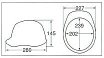 【ディック/DIC】 ABS素材ヘルメット A-01 (ライナー無) 【安全用・工事用・防災】