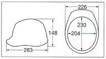 【ディック/DIC】 ABS素材ヘルメット SYA-X (ライナー無) 【安全用・工事用・防災】