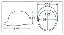 【ディック/DIC】 ABS素材ヘルメット SPA (ライナー入) 【安全用・工事用・高所作業用・防災】