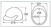 【ディック/DIC】 PC素材ヘルメット SP-25 (ライナー入) 【安全用・工事用・高所作業用・防災】