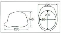 【ディック/DIC】 ABS素材ヘルメット SYA-XV ベンチレーション付 (ライナー無) 【安全用・工事用・防災】