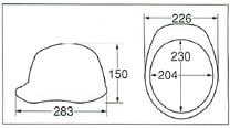 【ディック/DIC】 ABS素材ヘルメット SYA-WV COLOR×COLOR★カラーが81種類★ベンチレーション付 (ライナー入) 【安全用・工事用・高所作業用・防災】