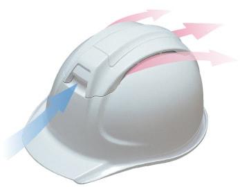 【ディック/DIC】 ABS素材ヘルメット SYA-WV ベンチレーション付 (ライナー入) 【安全用・工事用・高所作業用・防災】
