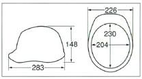 【ディック/DIC】 ABS素材ヘルメット SY-C (ライナー入) 【安全用・工事用・高所作業用・防災】