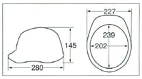 【ディック/DIC】 ABS素材ヘルメット A-01V ベンチレーション付 (ライナー無) 【安全用・工事用・防災】