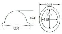 【ディック/DIC】 FRP素材ヘルメットFD(消防型) ライナー入 シルバー塗装メタルビョウ付 完成品 【安全用・工事用・高所作業用・防災】