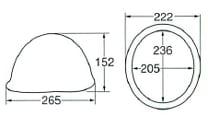 【ディック/DIC】 FRP素材ヘルメットMPF(消防団用)ライナー入 白 メタルビョウ付 完成品 【安全用・工事用・高所作業用・防災】