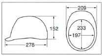 【ディック/DIC】 FRP素材ヘルメットXF 自主防災用 ライナー入 シルバー 無地 【安全用・工事用・防災】
