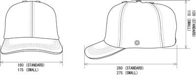 【タニザワ】 PE・綿素材ヘルメット トップキャップ TOPCAP 【安全用・工事用・高所作業用・防災】