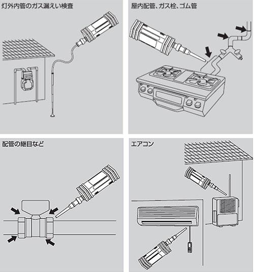 【新コスモス電機】携帯用高感度可燃性ガス検知器 XP-702II Z-F 【ガス漏洩検査・都市ガス点検・LPガス点検】