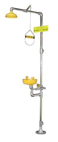 緊急用シャワー(洗眼/顔器付) 502-07