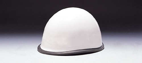 【ディック/DIC】 ABS素材ヘルメット MPA 消防団用 ゴム付 ライナー入 白 無地 【安全用・工事用・防災】