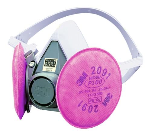 【3M/スリーエム】 取替え式防塵マスク 6000/2091-RL3 【粉塵・作業用・医療用】