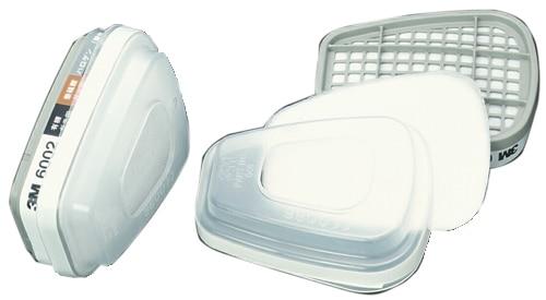 【3M/スリーエム】 コンビネーション用吸収缶(有機・ハロゲン・亜硫酸・酸性) 6002/5911-S1(6000用) (2個/1組) 【ガスマスク】