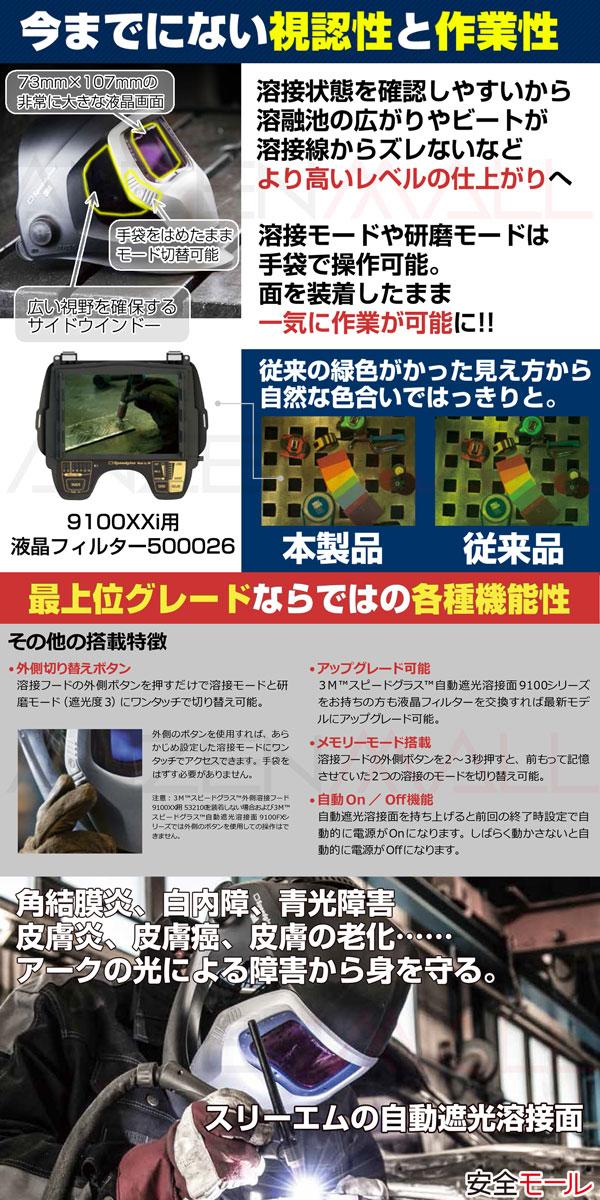 1商品画像【3M/スリーエム】 自動遮光溶接面 スピードグラス 9100XXi 501826おススメポイント